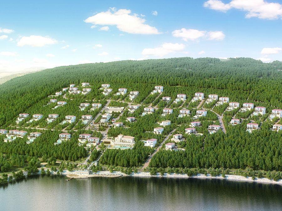 Вид на поселок Абрау-Дюрсо фотография