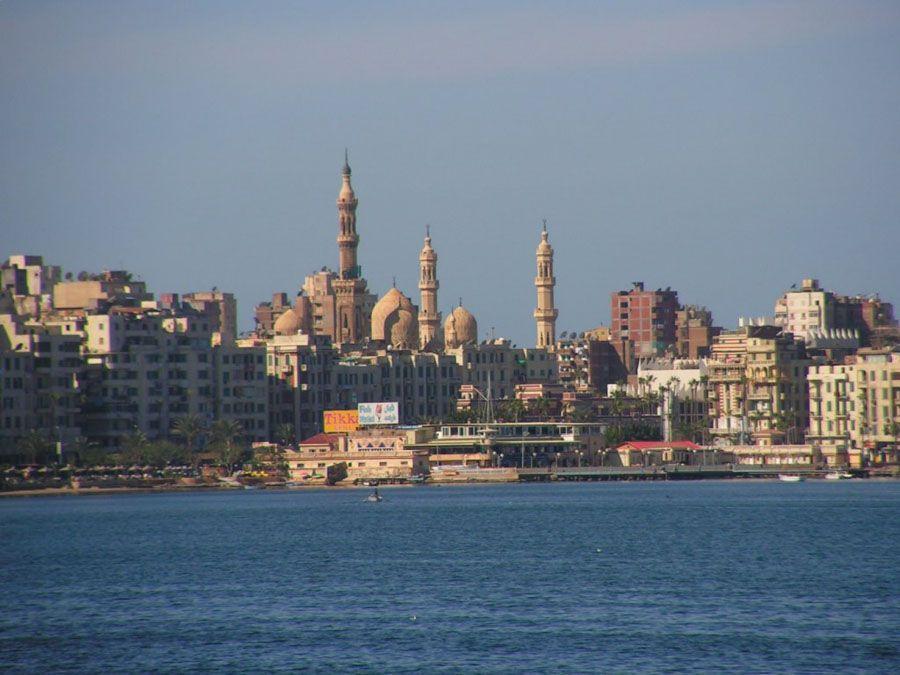 Город Александрия в Египте фото