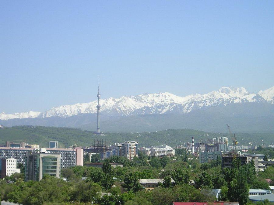 Панорама Алматы фото
