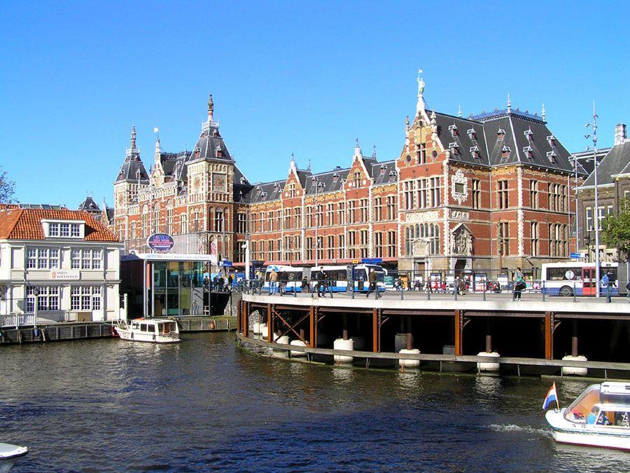 Архитектура города Амстердам фотография