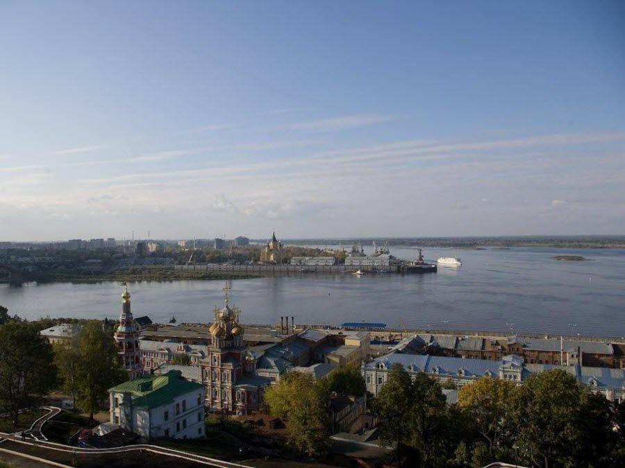 Стрелка в Нижнем Новгороде фото