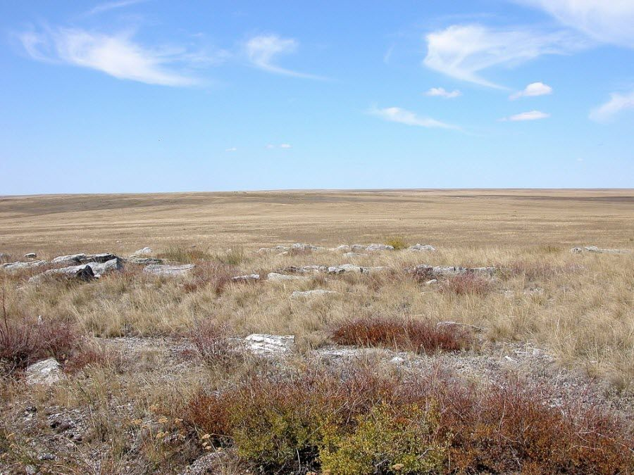 Панорама Ащисайской степи фото