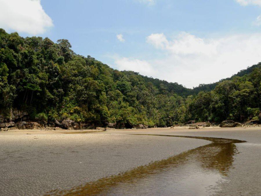 Фото острова на котором находится национальный парк Бако