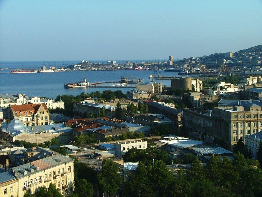 Баку вид сверху фотография
