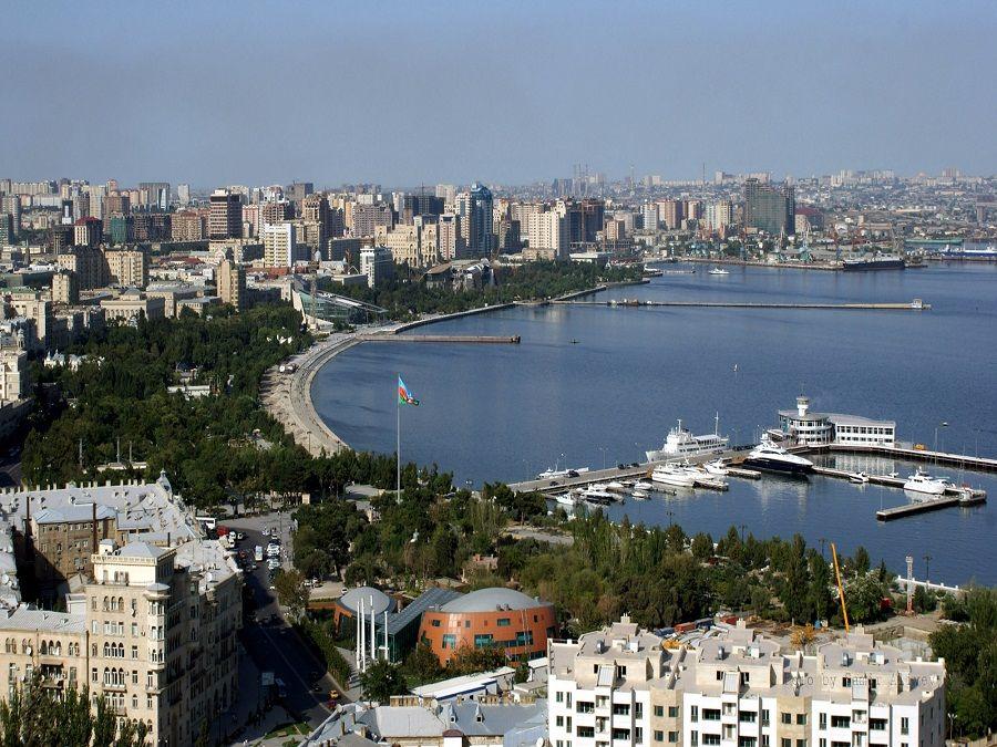 Фотография панорамы Баку