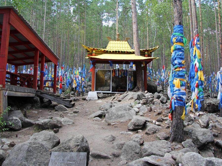 Фотография дугана богини Янжимы в Баргузинской долине
