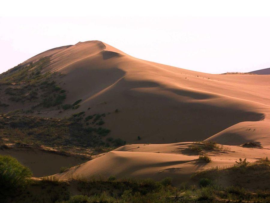 Фотография реликтовой дюны Сарыкум в Дагестане