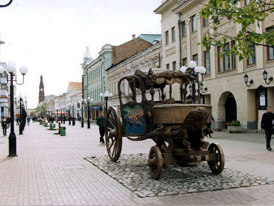 Вид на улицу Баумана в Казани фото