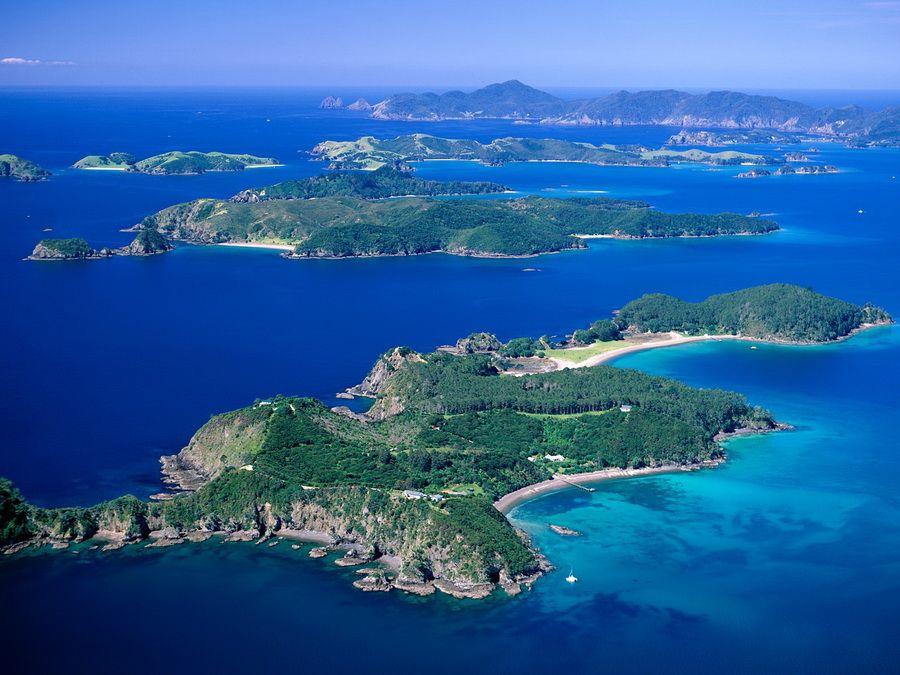 Фото Залива Островов в Новой Зеландии
