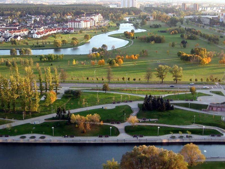 Панорама Минска фото