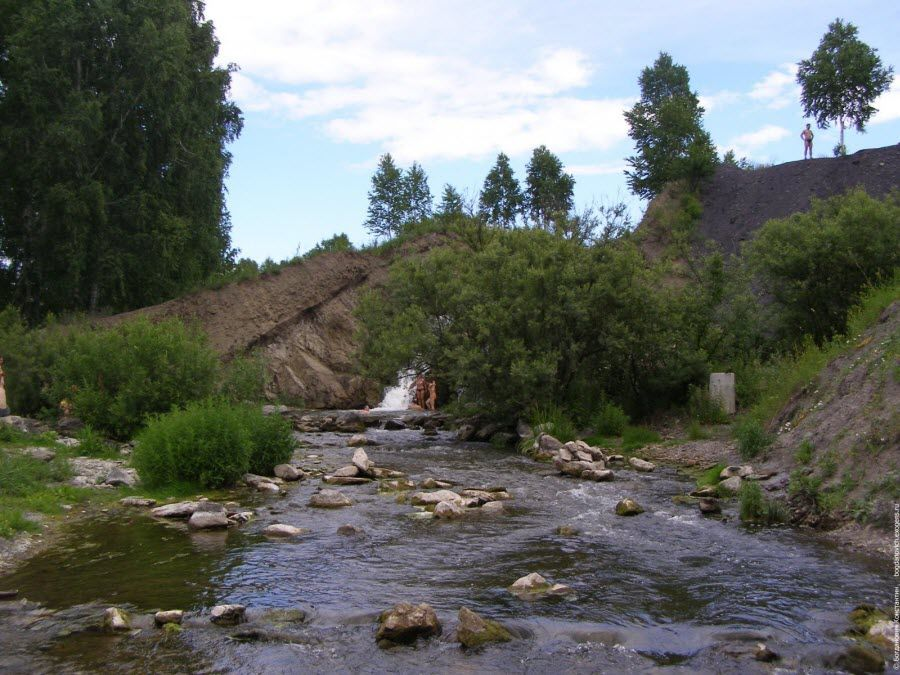 Фото панорама Беловского водопада