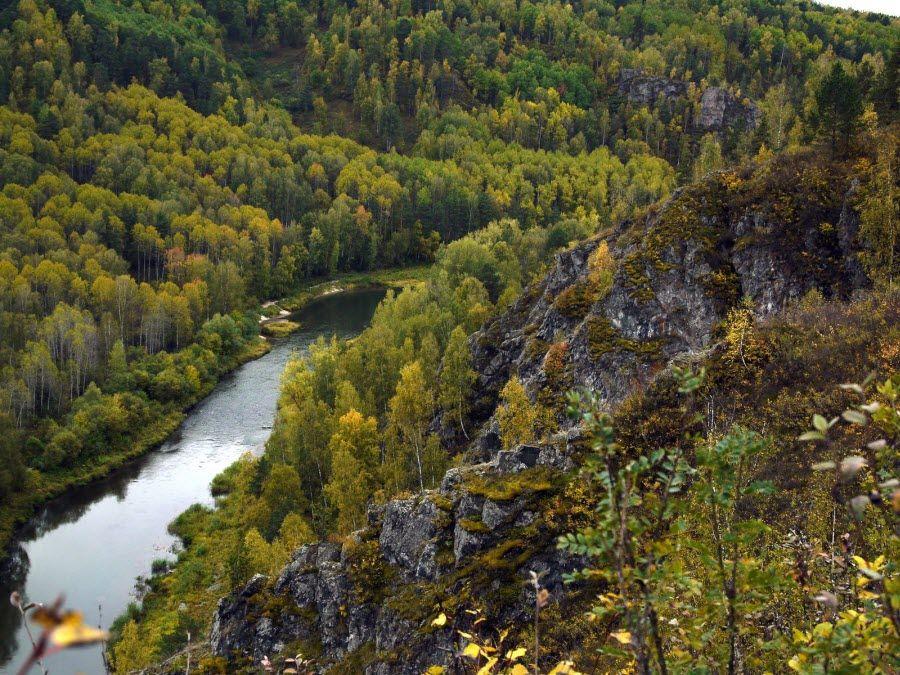 Фото вид с Бердских скал на реку