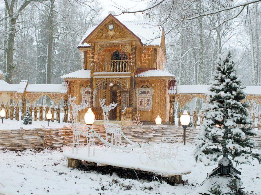 Фото имения деда Мороза в Беловежской пуще