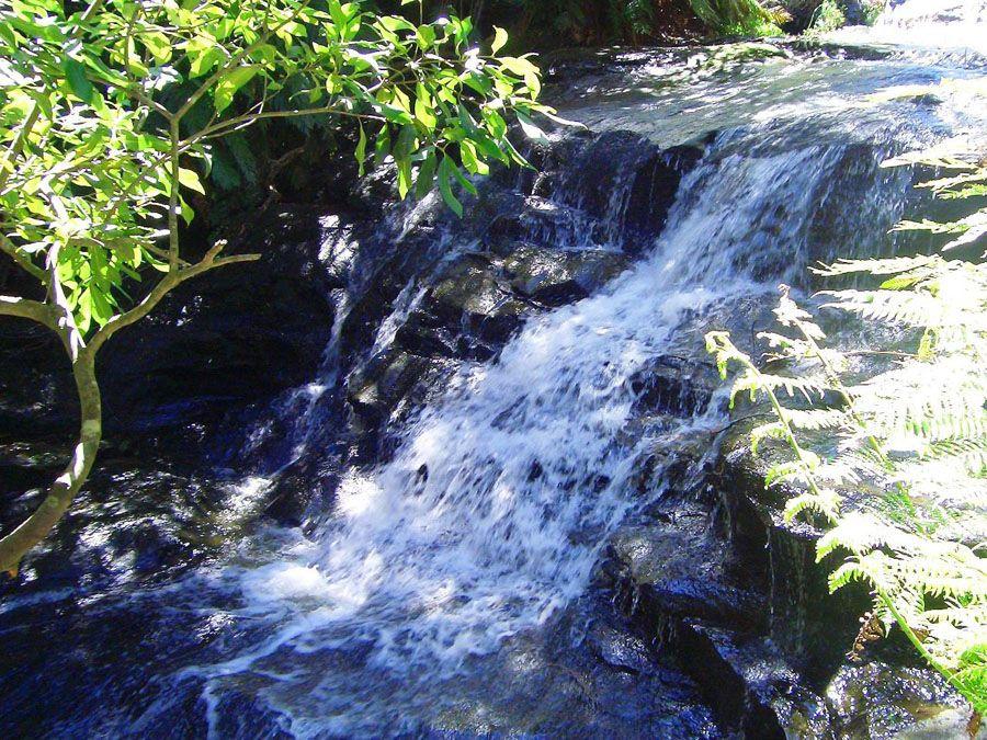 Фотография небольшого водопада парк Голубые горы