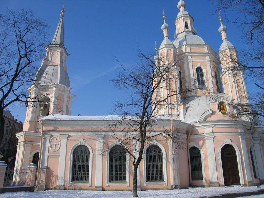 Фото Андреевского собора на Васильевском острове в Санкт-Петербурге