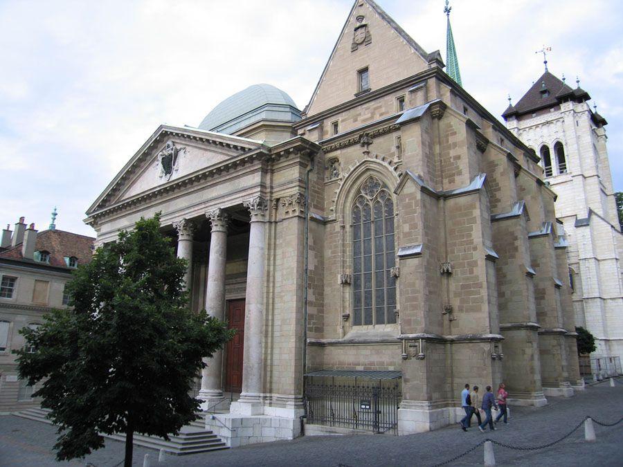Собор Св. Петра в Женеве фото