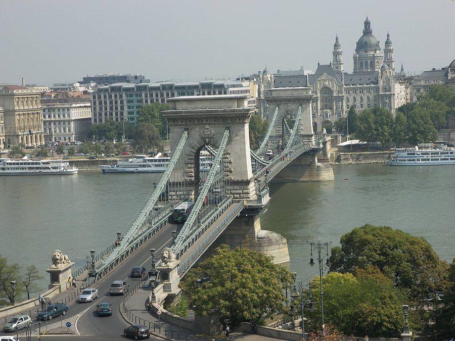 Цепной мост в Будапеште фотография