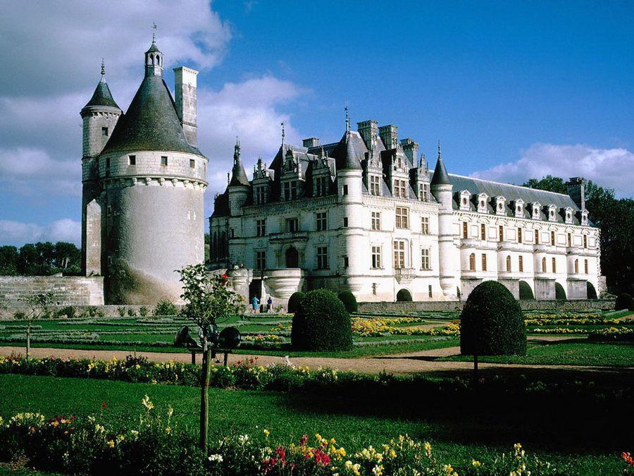 Фотография замка Шенонсо в долине Луары во Франции