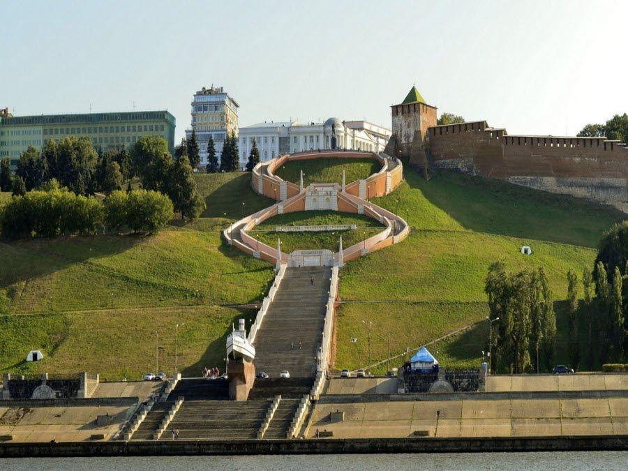 Фото панорама Чкаловской лестницы