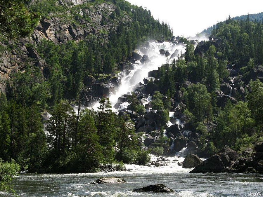 Фотография водопада Учар на реке Чульча