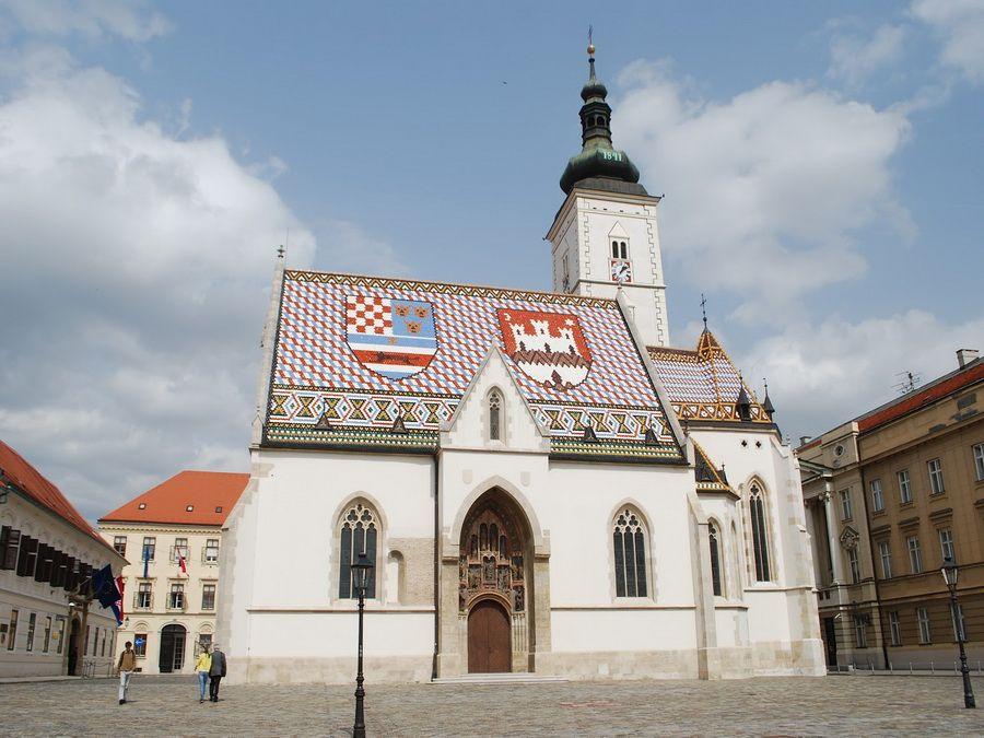 Фотография церкви св. Марка в Загребе