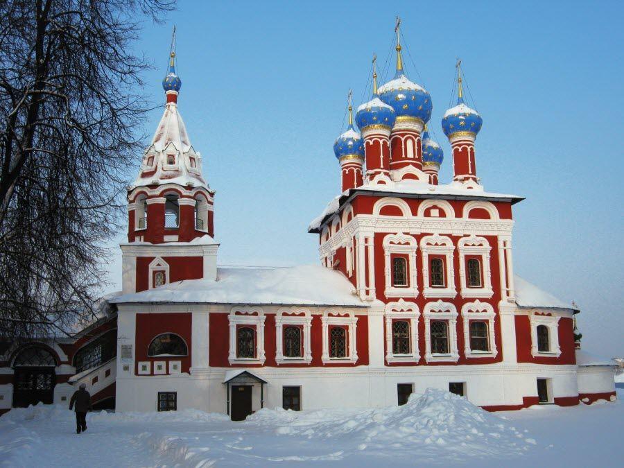 Церковь Царевича Димитрия на крови вид зимой фото