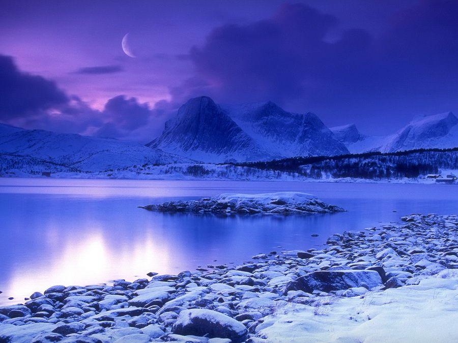 Озеро Холодная гора в Норвегии фото