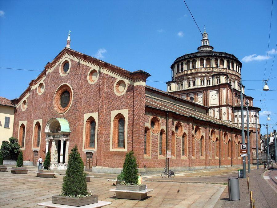 Монастырь Санта-Мария-делле-Грацие фото