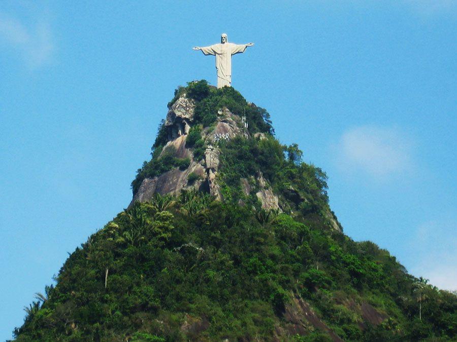 Гора Корковаду в Бразилии фотография