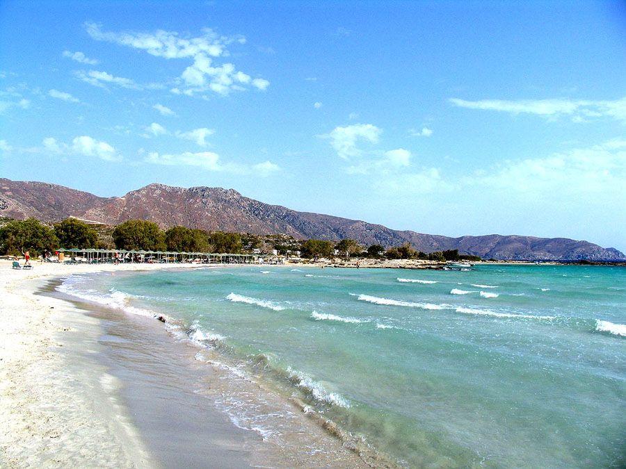 Пляж острова Крит фотография