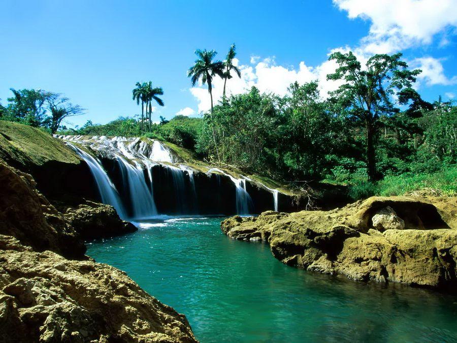 Фото водопада Эль Ничо на Кубе