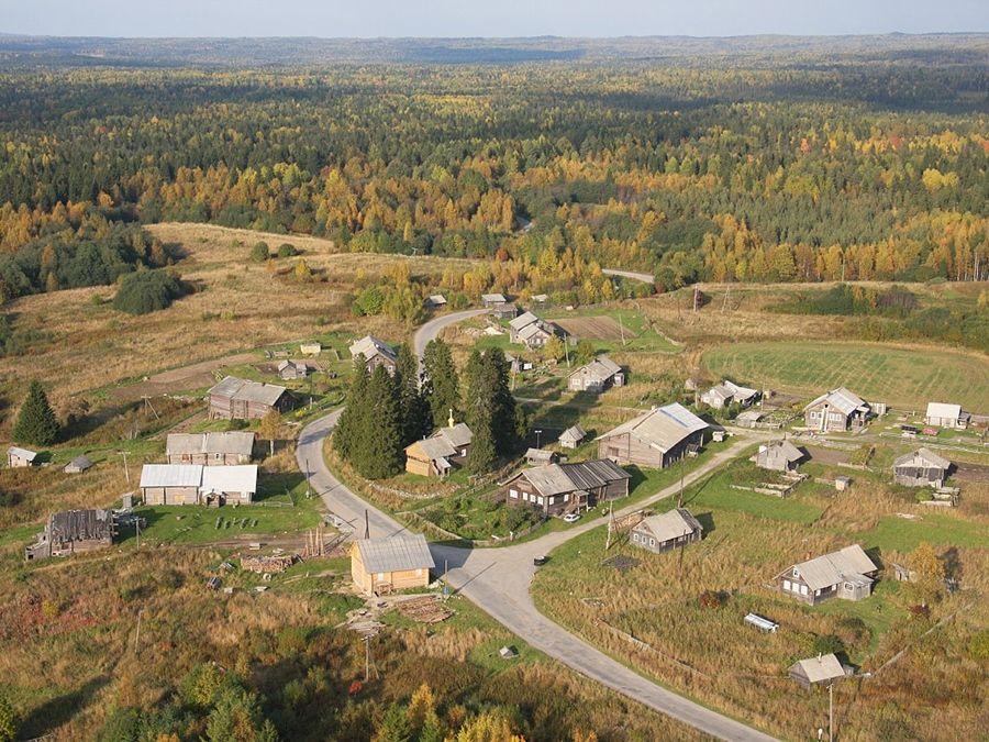 Деревня Кинерма фото вида сверху