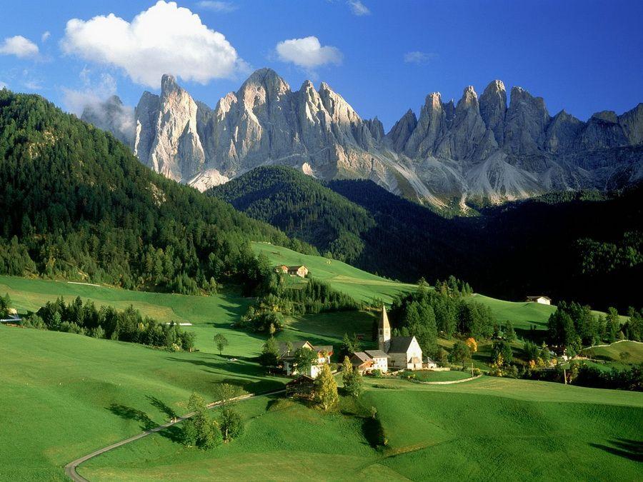 Доломитовые Альпы фото Италии