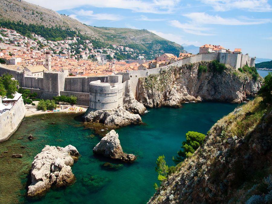 Панорама Дубровника фото с моря