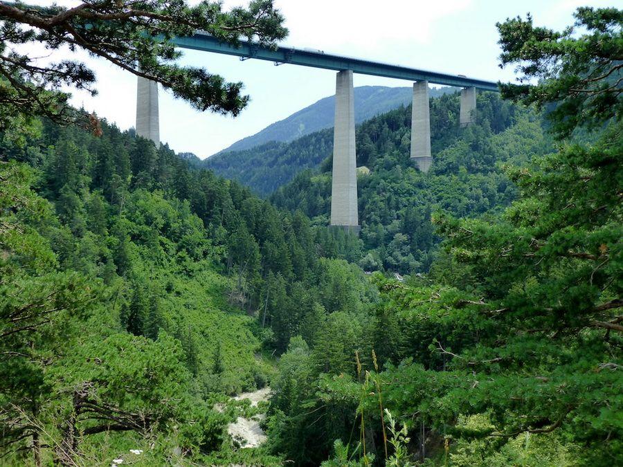 Фотография Европабрюкке в Австрии – самого высокого моста в Европе