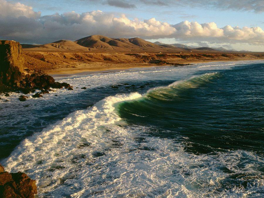 Фотография побережья Фуэртевентуры