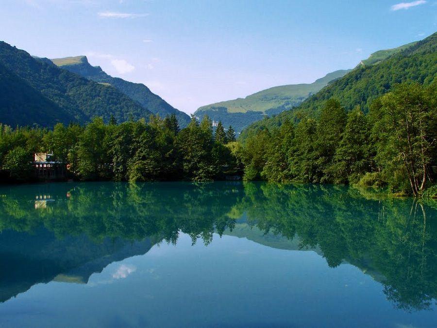 Голубое озеро фото Кабардино-Балкарии
