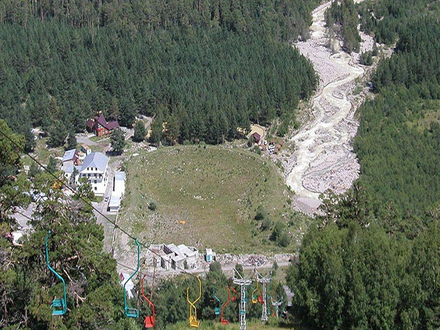 Фотография канатной дороги на горе Чегет