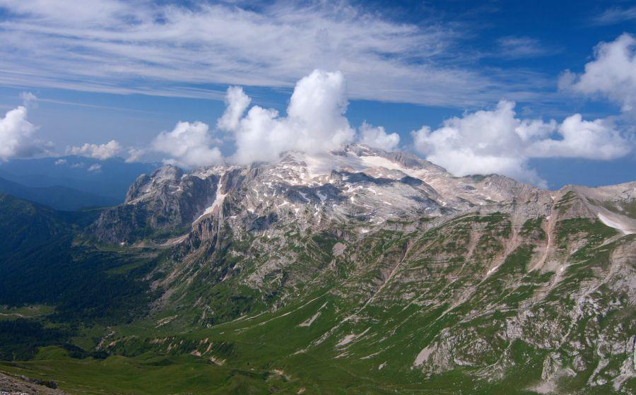 Фото ледника на горе Фишт