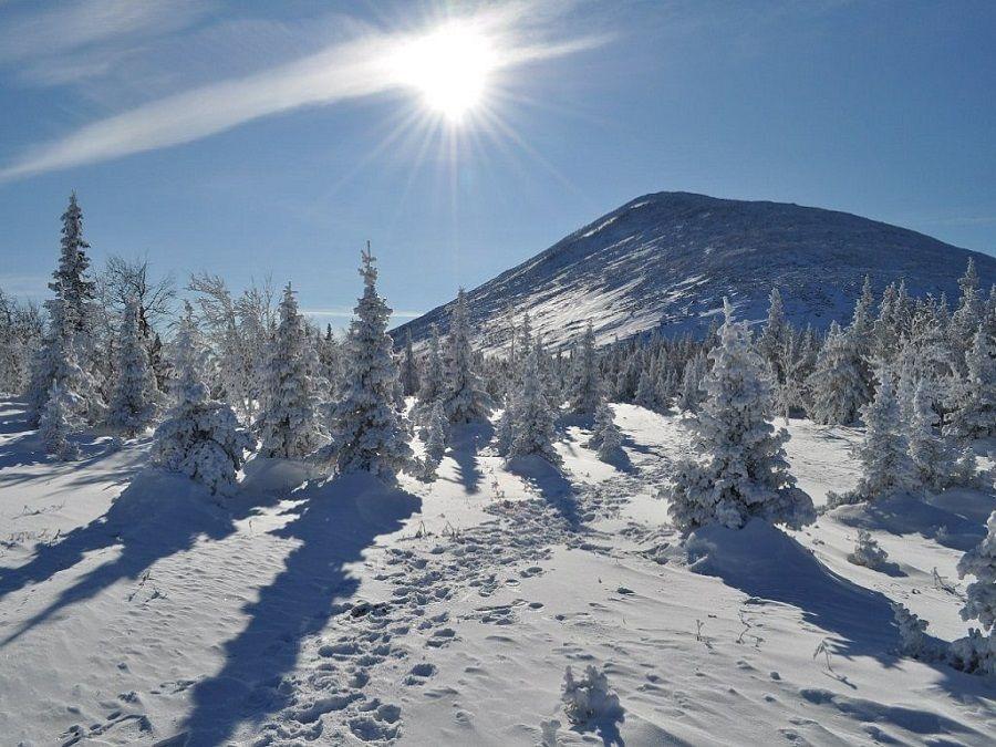 Гора Иремель фото зимой