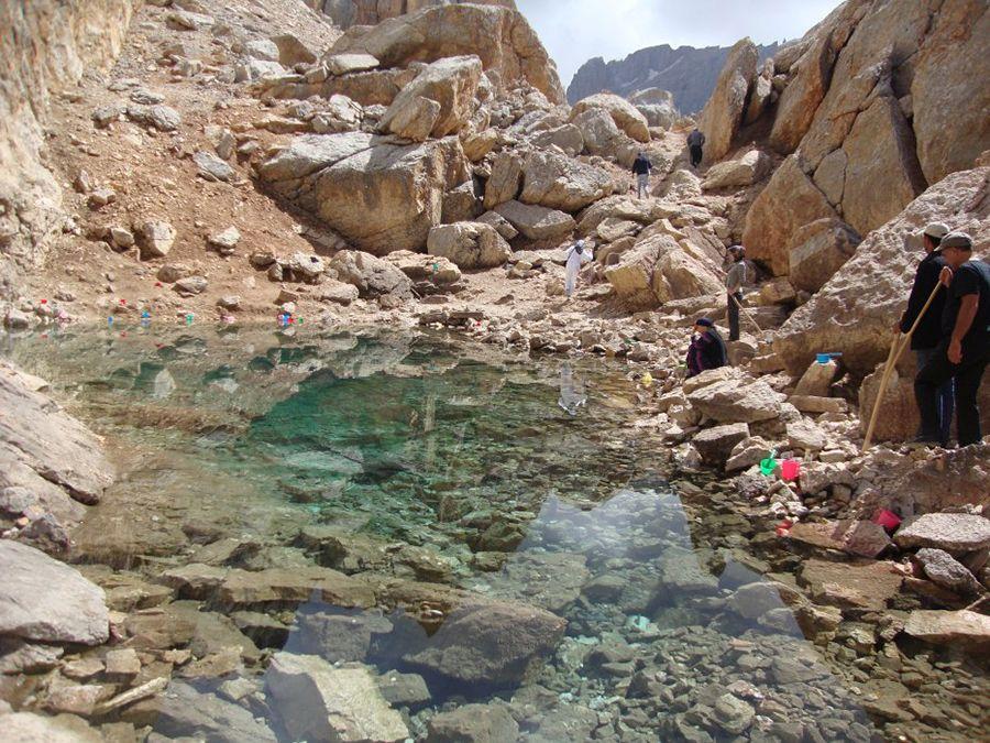 Фотография озера Зем-Зем на горе Шалбуздаг