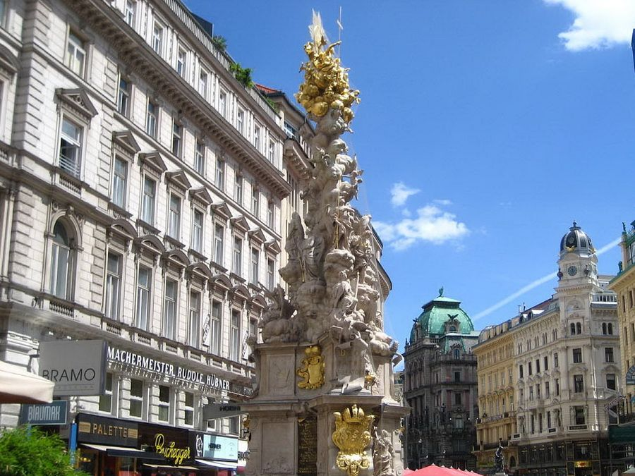 Фото Чумной колонны или Пейтзойле на улице Грабен в Вене
