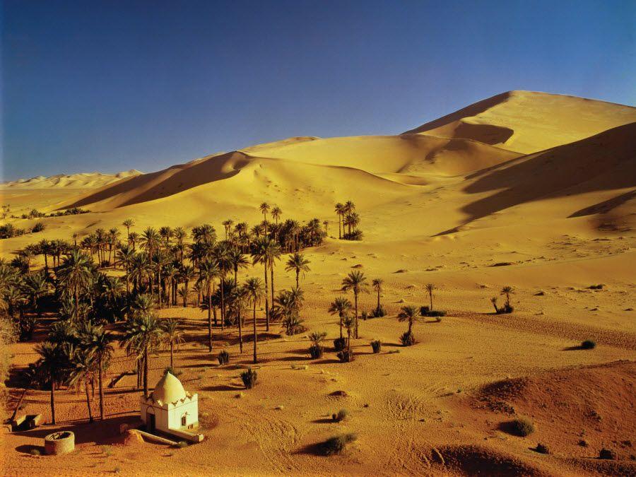 Фото песчаной пустыни Большой Восточный Эрг