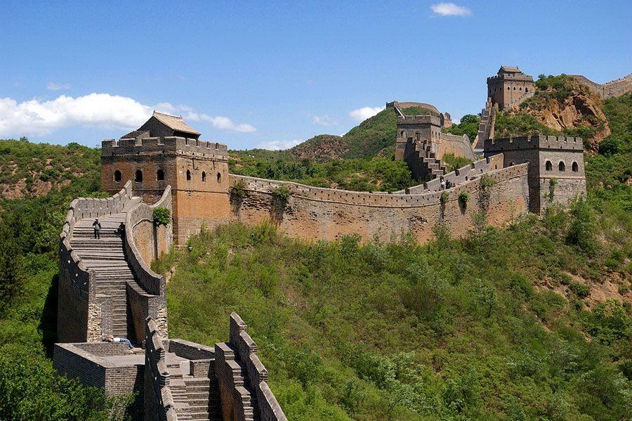 Великая Китайская стена фото с высокой точки