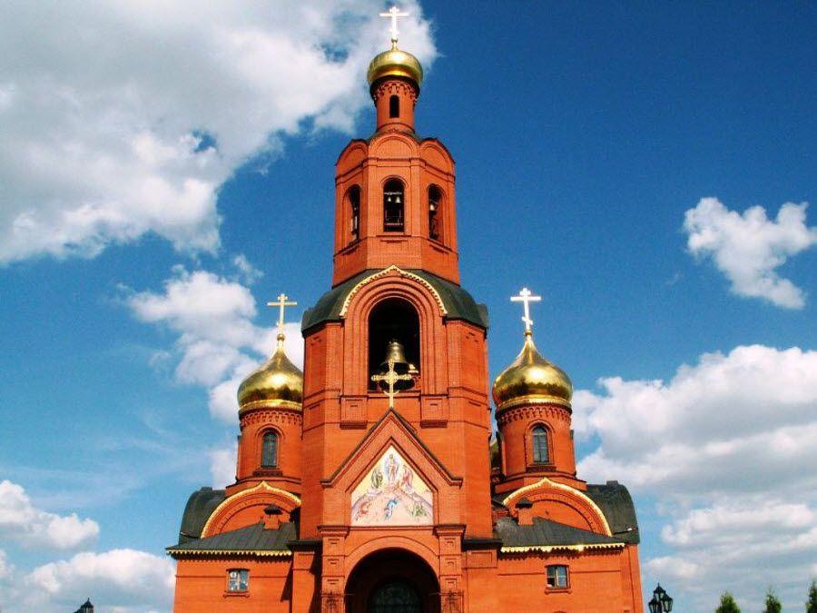 Губкинский Спасо-Преображенский собор вид вблизи фото