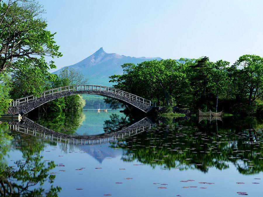 Фото пейзажа на острове Хоккайдо