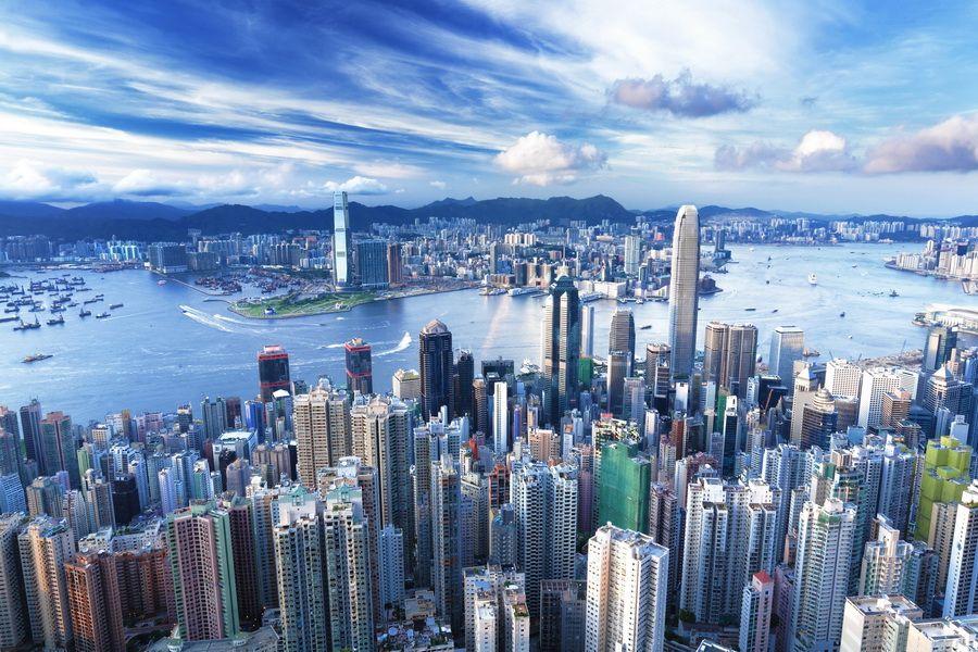 Фото нереально красивого вида Гонконга