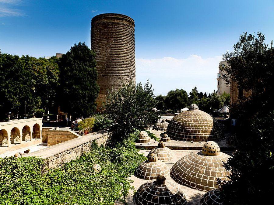 Фотография старинного района Ичери-шехер в Баку
