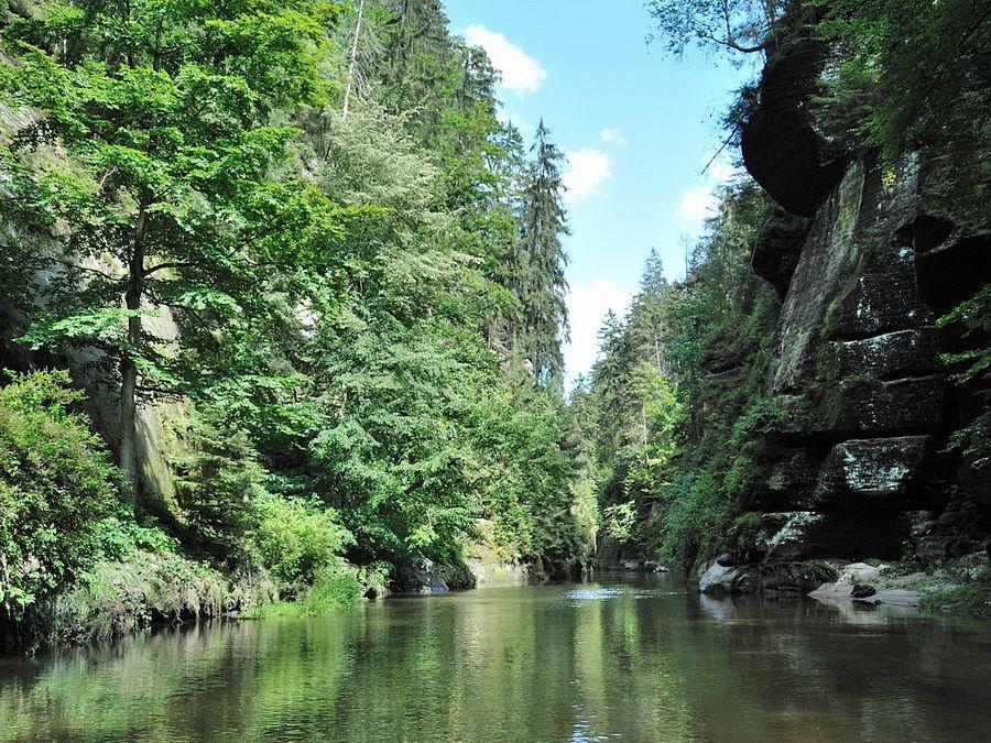 Каньон реки Каменицы фото в Национальном парке Чешская Швейцария