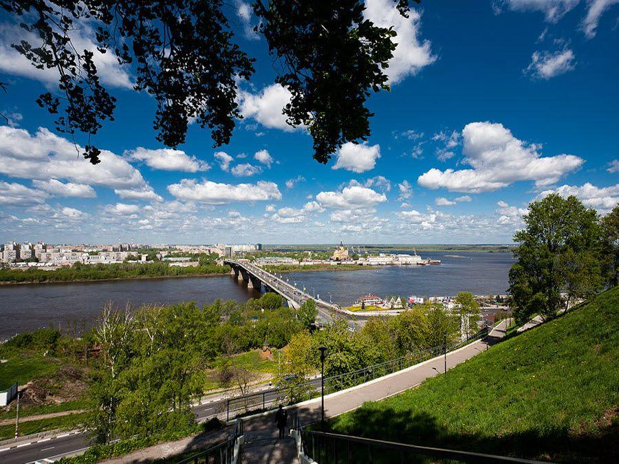Фото Скоба вид на Канавинский мост в Нижнем Новгороде